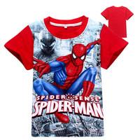 Summer Children Clothes 2015 T shirt Wholesale Cheap Spider Man T shirt