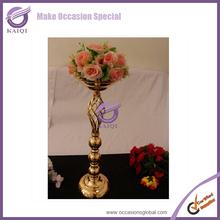 K5319 Hot sales Guangzhou wrought iron wedding centerpiece vases