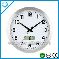 30cm Aluminum frame led wall clock home decor