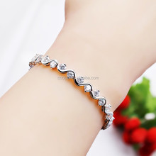New arrival hot sale 18 k gold expandable anklet bracelet with crystal jewelry
