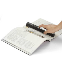 Portable handy book scanner with USB port and SD card storeage