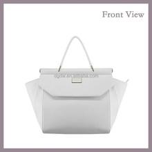 2015 Hot Fashion Pure White Handbag White PU Tote Bag