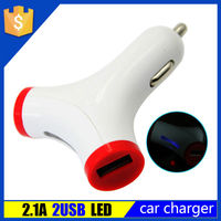 Promotional Universal Mini Dual USB Car Charger Adapter for Iphone Power Supply