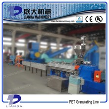 Parallel Twin Screw PET Plastic Granulator With Noodles Cutter