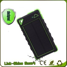 8000mAh waterproof solar charger, laptop solar charger,solar charger powerbank