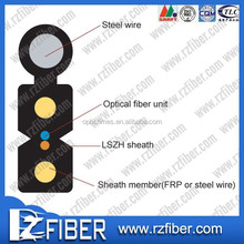Self-Supporting LSZH Sheath FTTH 2 Core Multimode Fiber Optic Cable Price List