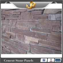 Natural red sandstone decorative exterior stone walls