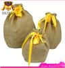 Hot Sale Round Bottom Jute Drawstring Bag