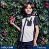 New Style Boy's Shirt Polka Dots Fabric Matching Frocks Cutting Blouse Design Fancy Fashion Kids Boys Shirts