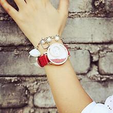 2015 new brand MxRe lady time pretty leather straps ladies clock round shape dial shock resistant women quartz wrist Watches