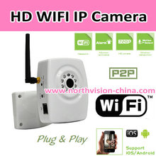 720P HD wifi P2P IP camera with H.264 video compression