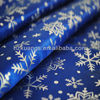 100% polyester snowflake printed satin fabric for christmas decoration
