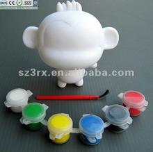 custom diy vinyl toy,kids blank vinyl toy,blank mini art toy with painting pens