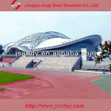 Prefabricated light steel school building space frame roof system