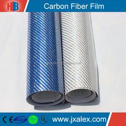 TQ-B0501PET Waterproof High Glossy Self Adhesive Premium Carbon Fiber Vinyl Roll, 150micron/140gsm, Clear & Removable Glue