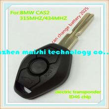 car key for bmw cas2 3button remote key 315mhz/433.92mhz with electric transponder chip 46 for 2004-2006 bmw 3 5series x5 x3 Z4