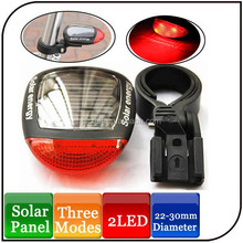2 red led cycling lamp caution light IP65 solar led tail light for bicycle