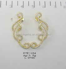 Fashion shining jewelry golden yellow earrings for party gilrs