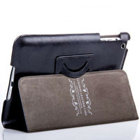 For apple ipad mini belt clip leather case for ipad 2 3 4 case cover