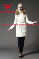High fashion quality womens white european down jackets