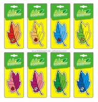 Customed paper car vent hanging air freshener with many patterms