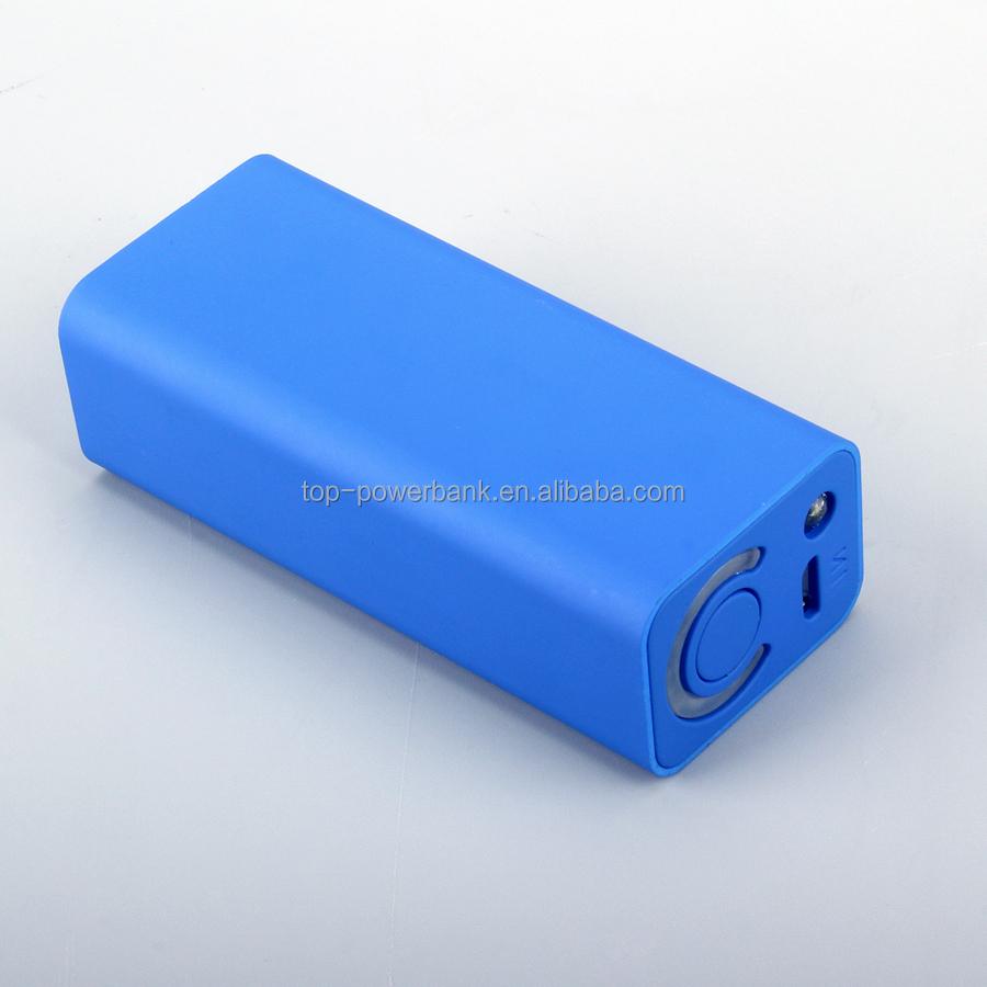 1pcs Universal Usb External Backup Battery With Torch Mini
