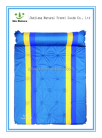 Automatic Inflatable Dampproof Camping Mat With Double Automatic Blow-up Lilo Pillow