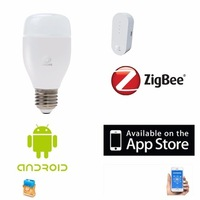 Zigbee home automation products dimmer RGB LED 16 million colors remote control wireless LED lighting with smartphone control