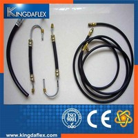 Tensile resistant hydraulic car brake hose assembly