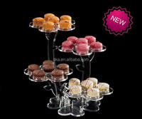 Flower shaped transparent acrylic macaron display stand