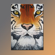 Hot seller 100% handmade high quality animal tiger oil painting for kid