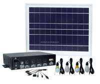 small solar home lighting kit with 4 led lights and mobile phone charger 8W solar panel