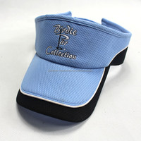 2015 Designed Men Wholesale Blue Cotton Promotional Golf Sun Visor