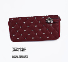 NEW 2015 Fashion Designers Quilting Black Popular Lady Wallet Money Bag Delicate Casual Lady Purse