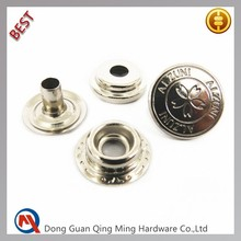 15mm Factory Jacket Type Snap Metal Buttons For Garments