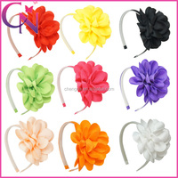 50 pieces/lot Boutique Hair Band Ribbon Bow Hair Band For Girls (CNHB-141171)