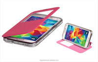 High quality Diamond Case Metal Bumper Leather Back Cover Case for Samsung Galaxy S5