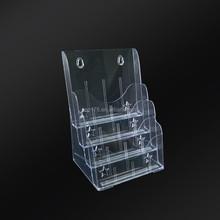 A4 Plastic Flyer Display Holder Stands For Tabletop
