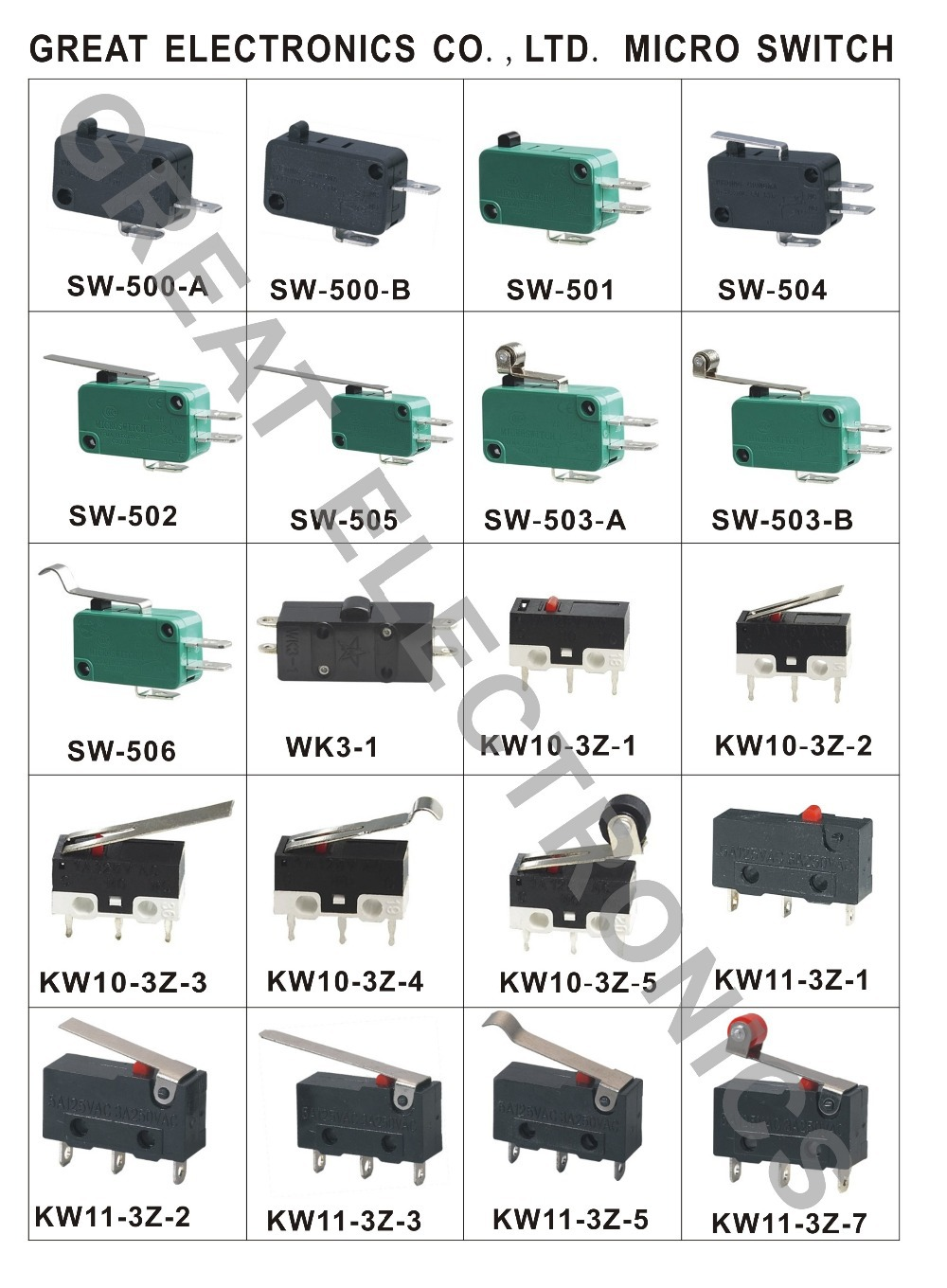 China Supplies 5a 250vac Micro Switch Copper Pins Safty Product Kw12 Microswitch 1