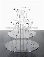 acrylic wedding cake stand Round clear acrylic party cupcake stands, plexilass 4 tier cake tower stand, acrylic display stand fo