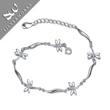 Animal Shaped Pure 925 Sterling Silver Chain Bracelet with Zircon Stones