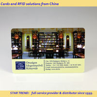 PVC barcode card with signature panel as ID card for library - member card