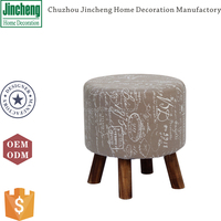 Printing linen dining chair, relex seat, comfortable ottoman