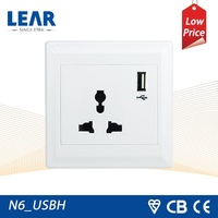 Hot sale power outlets hotel table lamps with switch