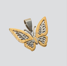 charming plated 18 K gold stainless steel butterfly pendant with hollowed wings