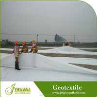Reincorced uv protection polyester nonwoven geotextile materials in road construction
