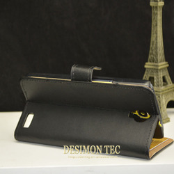 OEM/ODM new arrival for alcatel one touch idol x case, book style leather flip case for alcatel one touch idol x+ 6043d