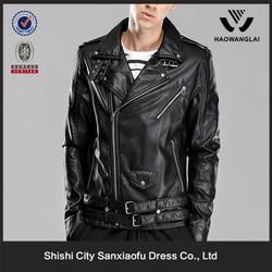 Wholesale Washed Geniune Men Leather Jacket, Motorcycle Leather Jacket, Leather Jackets For Men