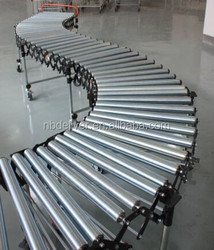 Flexible Expandable Gravity Roller Conveyors for warehouse/airport/dock