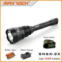 Maxtoch SN6X-2X 1300 Lumen Long Range XM-L2 U2 Super Bright LED Police Flashlight